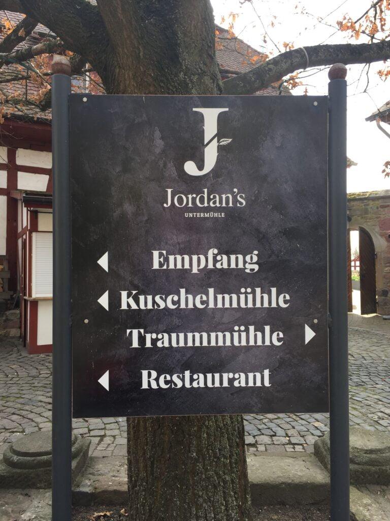 Wegweiser Jordan's Untermühle